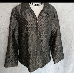 ERIN LONDON Pewter Shimmer Blazer 2X